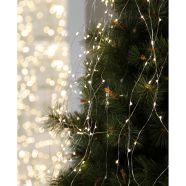 Ljusslinga Dew Drop EL Kallvit 125 ljus 140cm 10 strängar , hemmetshjarta.se