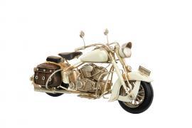 Dekoration Motorcykel Creme Metall 28x11x14cm , hemmetshjarta.se