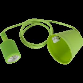 Sladdställ E27 Color Grön 1,2m med Takkopp , hemmetshjarta.se