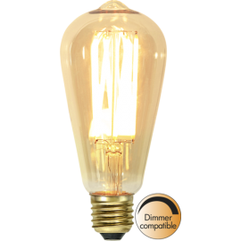 LED-lampa E27 Vintage Gold ST64 Dim , hemmetshjarta.se
