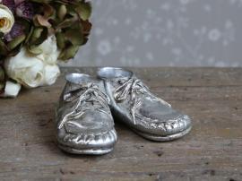 Toulon vintage skor för dekoration H5 / L13 / W6 cm antik silver , hemmetshjarta.se