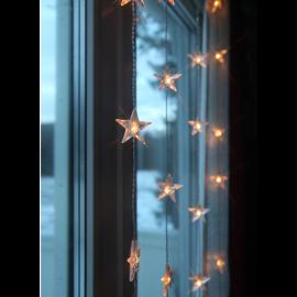 Dekorationsslinga EL Ljusgardin Star Varmvit 30 ljus 90x120cm , hemmetshjarta.se