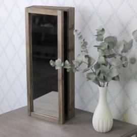 Nyckelskåp/Spegel Trä Brun 50 cm , hemmetshjarta.se