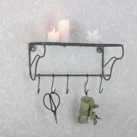 Vägghylla med krokar Fil de der , hemmetshjarta.se