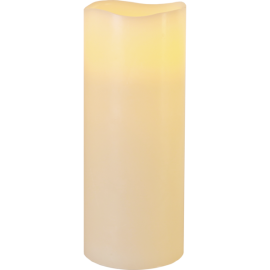Batteridriven Blockljus LED Big Elfenben 10x25cm , hemmetshjarta.se