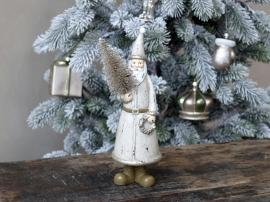 Jultomte med julgran H22.5 / L9 / B8.5 cm latte , hemmetshjarta.se