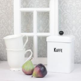.Plåtburk Kaffe Kvadrat , hemmetshjarta.se