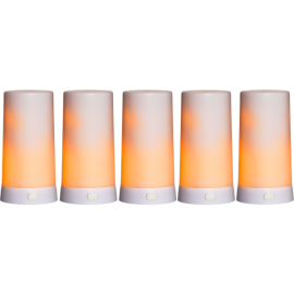 Batteridriven Blockljus LED Diner Vit 5st Extra 13cm , hemmetshjarta.se