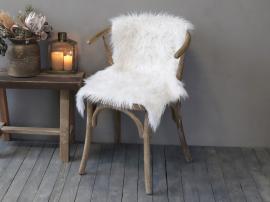 Konstgjord lammfäll L90/B60 cm vit , hemmetshjarta.se