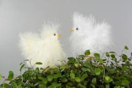 Kyckling/Stick Platta Vit/Gul 5cm 2-pack , hemmetshjarta.se