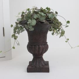 Kruka Pokal antikbrun- 18cm , hemmetshjarta.se