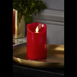 Batteridriven Blockljus LED M-Twinkle Röd 7,5x12,5cm , hemmetshjarta.se