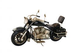 Dekoration Motorcykel Svart Metall 28x11x14cm , hemmetshjarta.se
