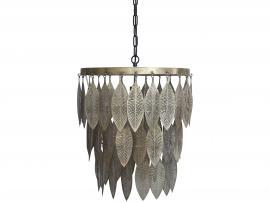 Lampa med metalldekoration H59 / Ø47 cm antik mässing , hemmetshjarta.se
