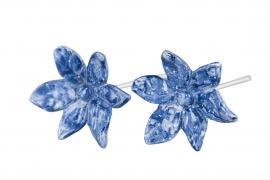 Blomma/Stick Mörkblå Poly 5,5cm 2-pack , hemmetshjarta.se