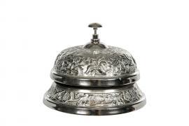 Receptionsklocka Antik Silver 14x10cm , hemmetshjarta.se