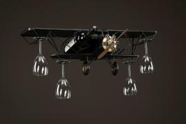 Flygplan Glas/Flaskhållare Metall 75x23x25cm , hemmetshjarta.se