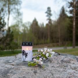 LED Gravljus Dandelion 12 cm , hemmetshjarta.se