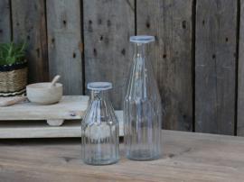 Flaska med lock H25 / Ø8 cm 500 ml klar 1 st , hemmetshjarta.se