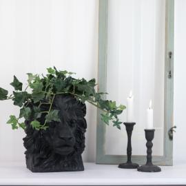 Kruka Lejon Svart/Brun 26,5 cm ** , hemmetshjarta.se