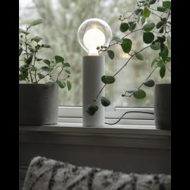 Lampfot E27 Tub Vit 8x25 , hemmetshjarta.se