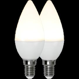 LED-Lampa E14 Ø37 lm470/40w Frostad Basic 2-pack , hemmetshjarta.se