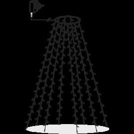 Julgransslinga Utomhus EL Serie LED Varmvit 160 ljus 200cm , hemmetshjarta.se