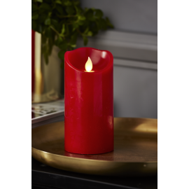 Batteridriven Blockljus LED M-Twinkle Röd 7,5x15cm , hemmetshjarta.se