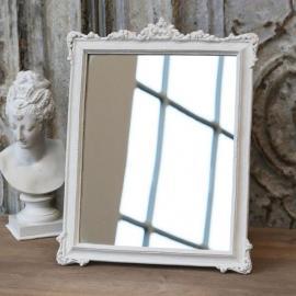 Spegel med dekor - antikvit * , hemmetshjarta.se