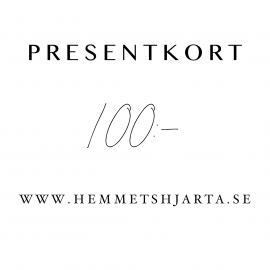 Presentkort - 100:- sek , hemmetshjarta.se