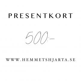 Presentkort - 500:- sek , hemmetshjarta.se