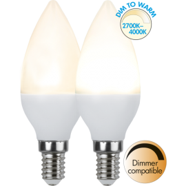 LED-Lampa E14 Ø37 Dim To Warm lm470/40w , hemmetshjarta.se