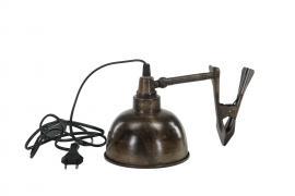 Lampa Clip El Brun Antik 15x15cm , hemmetshjarta.se