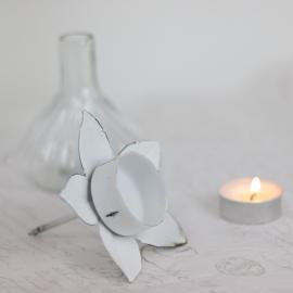 Värmeljushållare till flaska - antikvit , hemmetshjarta.se