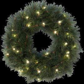 Konstgjord Krans Russian Pine EL Utomhus Varmvit 30 ljus 50cm , hemmetshjarta.se