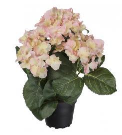 Konstgjord Hortensia 30 cm Rosa , hemmetshjarta.se