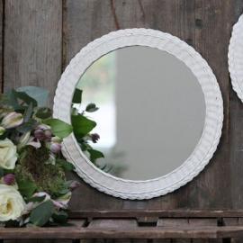 Spegel med flätad ram 29 cm * , hemmetshjarta.se