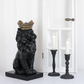 Lejon med krona Poly 14x35cm , hemmetshjarta.se