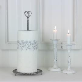 Hushållspappershållare i metall - grå , hemmetshjarta.se