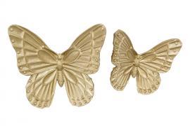 Fjäril/Vägg Guld Poly 16/12cm 2-pack , hemmetshjarta.se