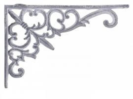 Hyllkonsol H12 / L18 / B3,5 cm antikgrå , hemmetshjarta.se