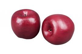 Konstgjord Äpple Mörkröd 70mm 3-pack , hemmetshjarta.se