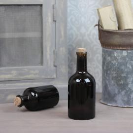 Glasflaska Mörkbrun 400ml 8x18cm , hemmetshjarta.se
