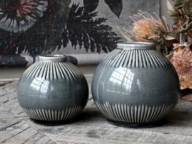 Alsace Vas med randigt mönster H14 / Ø15,5 cm opal , hemmetshjarta.se