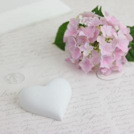 Hjärta skrivbart mellan - vit , hemmetshjarta.se