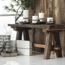 Bänk Rustik UNIKA återvunnet trä 30,5x38x91 cm , hemmetshjarta.se