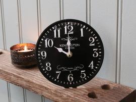 Bordsklocka Ø15,5 cm svart , hemmetshjarta.se