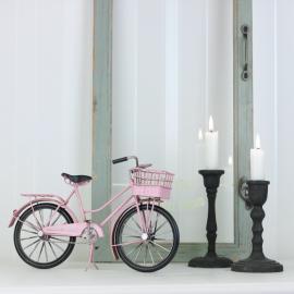 Dekoration Cykel Dam Rosa 30 cm , hemmetshjarta.se