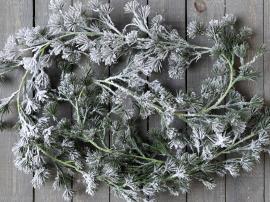 Fleur Cedar girlang med snö L180 cm grön , hemmetshjarta.se