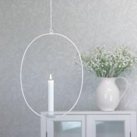 Hängande ljusstake med kedja - antikvit , hemmetshjarta.se